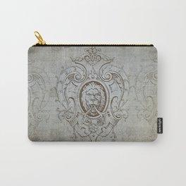 Heraldic Lion vintage retro art Carry-All Pouch