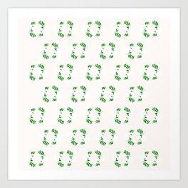 Holiday Wreath Pattern Art Print
