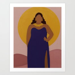 Lady in Gold Art Print