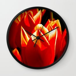 Decorative Red Tulips Wall Clock
