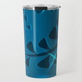 Pattern ocean plants blades grass dark ultramarine vintage style. Travel Mug