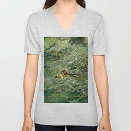 """The Mermaid in the Sea"" by Edmund Dulac Unisex V-Neck"