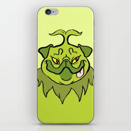 Christmas Nostalgia - Grinch Pug iPhone Skin