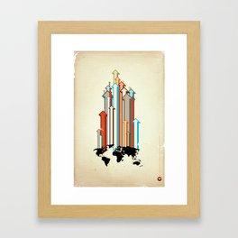 "Glue Network Print Series ""Economic Development"" Framed Art Print"