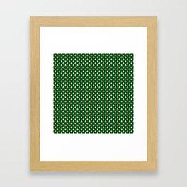 Irish Flag Green White Orange on Green St. Patrick's Day Ireland Framed Art Print