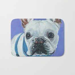 French Bulldog Portrait Painting Bath Mat