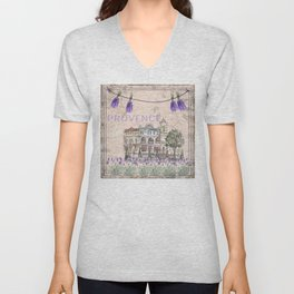 Provence France - my love  - Lavender and Summer Unisex V-Neck