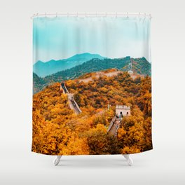 The Great Wall of China in Autumn (Color) Shower Curtain