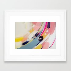 Those summer Days #1 Abstract on perspex by Jen Sievers Framed Art Print