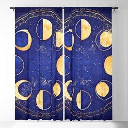 Celestial Atlas :: Lunar Phases Blackout Curtain