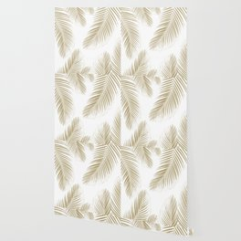 Palm Leaves - Gold Cali Vibes #3 #tropical #decor #art #society6 Wallpaper