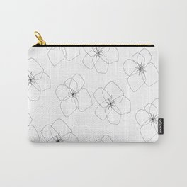 You + Me = We - Hawaiian hibiscus flower illustration tropical floral pattern black white summer Carry-All Pouch