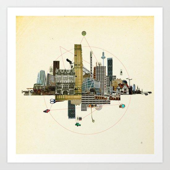 Collage City Mix 8 Art Print