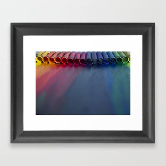 Crayons: Just Melted Framed Art Print