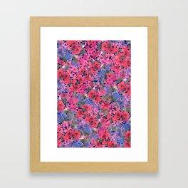 Dark Red Poppy Garden Framed Art Print