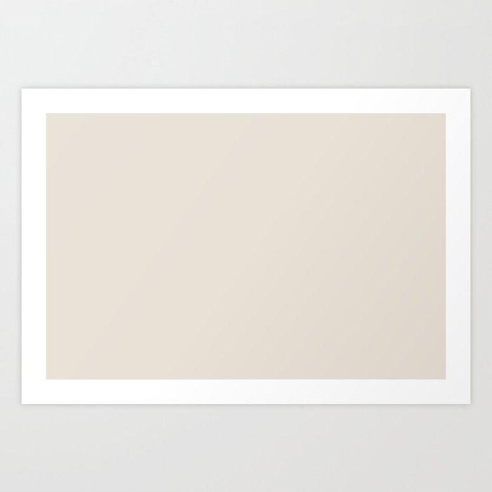 Best Seller Sherwin Williams Colors of 2019 Porcelain (Off White Cream Ivory) SW 0053 Solid Color Kunstdrucke