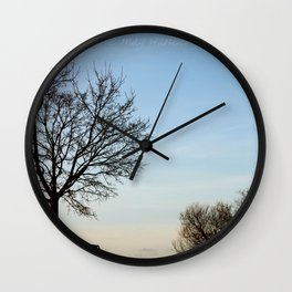 Chairs for Two Wall Clock