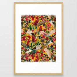 FLORAL AND BIRDS XVIII Framed Art Print