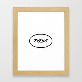 Bklyn simple vector Framed Art Print