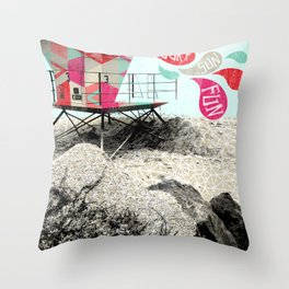 SURF.SUN.FUN. Throw Pillow