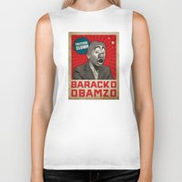 political Biker Tanks featuring Political Clown by politics