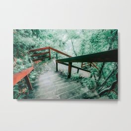 Stairs to St. Lucia Metal Print