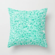 Knee-Deep in Turquoise Ink Throw Pillow