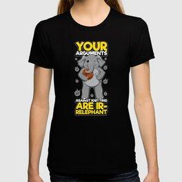 Arguments IR-Relephant Elephant Knitting T-shirt