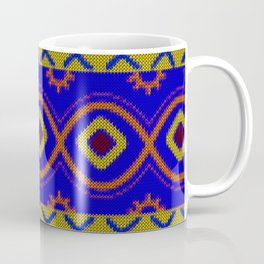 Ethnic African Knitted style design Coffee Mug