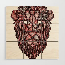 Lion Mask Wood Wall Art