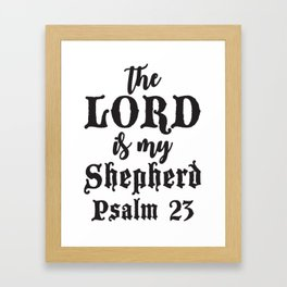 Psalm 23 Framed Art Print