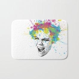 Crazy Colorful Scream Bath Mat