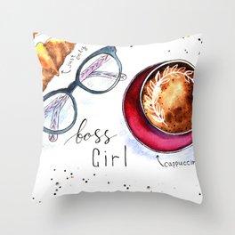 Boss girls rock! Throw Pillow