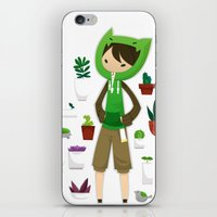 plants iPhone & iPod Skins featuring Plants by Zennore