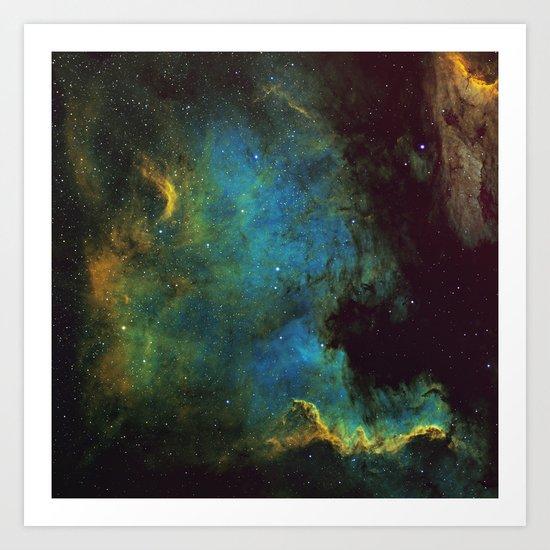 North American and Pelican Nebula Art Print