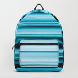Turquoise Color Abstract Horizontal Lines #decor #society6 #buyart Backpack