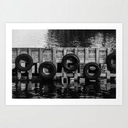 Tyre bumpers - Tasmania Art Print