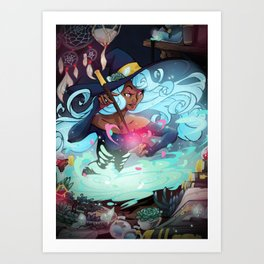 Heart's Witch Art Print
