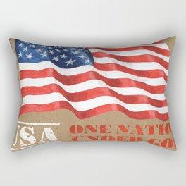 Patriotic Text Rectangular Pillow