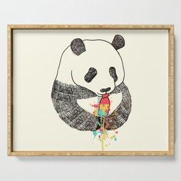 Panda Loves Ice Cream Serving Tray