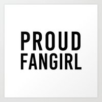 fangirl Art Prints featuring FANGIRL by The Fandom Designs