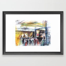 Street food, Copenhagen Framed Art Print