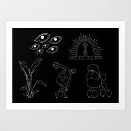 Caniche Parkour Art Print