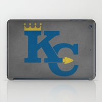 kansas city iPad Cases featuring Kansas City Sports Blue by Haley Jo Phoenix