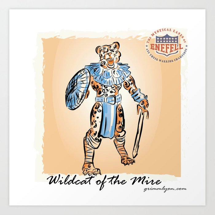 Wildcat of the Mire Art Print