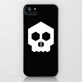 hex geometric halloween skull iPhone Case