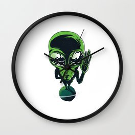 Left Hand Alien Wall Clock
