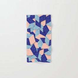 Colorful Aqua Geometric Pattern Hand & Bath Towel