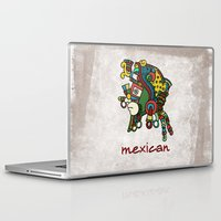 mexican Laptop & iPad Skins featuring mexican warrior by laika in cosmos