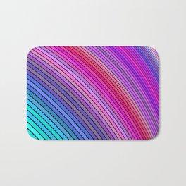 Cold rainbow stripes Bath Mat